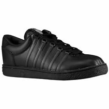 New Boy's K-Swiss 80144 Classic Black Leather Athletic Shoes