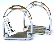 JINN STIRRUPS STAINLESS STEEL HORSE RIDING NEW DESIGN WITH FREE KEY RING