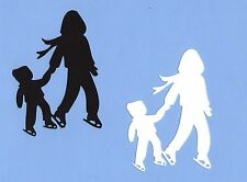 """Ice Skaters Die Cuts, 4"""" Tall, 2 pcs. You Choose Colors - Children Die Cuts"""