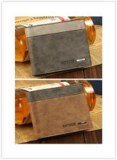 Mens Leather Bifold Wallet ID Business Credit Card Holder Purse Clutch Pockets