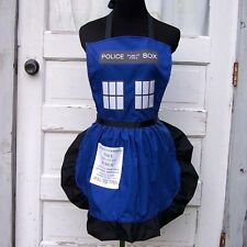 Blue Police Box Apron Cosplay Costume Tardis Dr Who Cook Chef Baker Convention