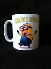 Novelty mug ONE IN A MINION, birthday gift,kids,PERSONALISED