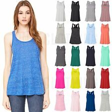 Bella Ladies Racerback Tank Top XS-2XL Womens Flowy Sleeveless Tee 8800 NEW