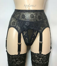 8 Strap Luxury All Lace Suspender Belt Black (Garter Belt) *FREE UK SHIPPING*