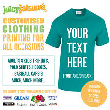 Custom Printed Personalised T Shirts  Design Your Own Tee Shirt Hen Stag Charity