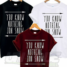 YOU KNOW NOTHING JON SNOW T SHIRT TOP TEE TSHIRT GAMES OF THRONES TUMBLR FASHION