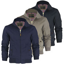 Mens Harrington Jacket Crosshatch Harrinz Vintage Retro Summer Jacket Coat