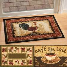 """NEW ~ COFFEE CAFE, ROOSTER, FRUIT Kitchen Accent Rug Mat 20""""L x 30""""W Non Skid"""