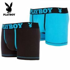 BRAND NEW - PLAYBOY MENS BOXERS BOXER SHORTS - 2 PACK - VARIOUS COLOURS / SIZES
