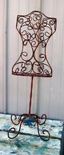 Wrought Iron Dress Form - Decorative Metal Display - Nicely Made