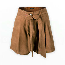 JANE NORMAN Ladies Womens Belted Suede SHORTS Brown Girls Sexy Summer Trousers