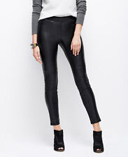 Ann Taylor – Petite Black Faux Leather Ribbed Elasticized Waistband Leggings $98