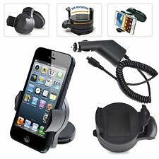 360° WINDSCREEN/DASHBOARD MINI CAR HOLDER+CHARGER FOR VARIOUS 2014-2015 MOBILES