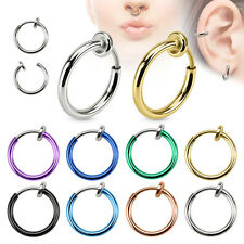 EJ *** SEPTUM CLICKER NASENPIERCING RING FAKE NASENRING PIERCING HELIX Titan