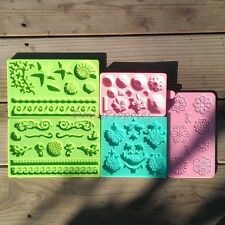 Silicone Embossing Gum Paste Mold Fondant Cake Lace Decorating Icing Craft Mat