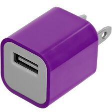 Purple Wall Travel Home AC Charger Adapter for Cell Phone iPhone 5S Galaxy S4 S3