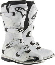NEW ALPINESTARS TECH 8 RS WHITE VENTED BOOTS FREE