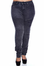 Womens Ladies Plus Size  skinny/slim cut free shipping acid black comfy bae