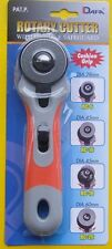DAFA Craft Fabric Rotary Cutter Soft Grip Handle Left Or Right Handed 28/45/60mm