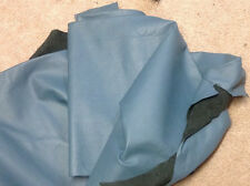S27 Leather Cow Hide Hides Cowhide Upholstery Craft Fabric Blue