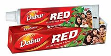 DABUR RED TOOTH PASTE AND POWDER FOR REDUCTION IN GUM DISORDERS & TOOTHACHE new