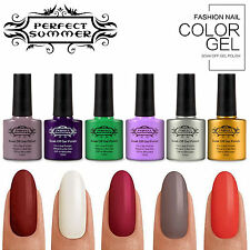 10ml UV Gel Nail Polish Soak Off Shiny Pure Color Varnish Nail Art Accessory Tip