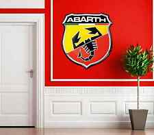 ABARTH CAR BADGE LOGO  WALL ART PICTURE STICKER MODERN LOUNGE BEDROOM REMOVABLE