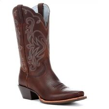 Ariat Ladies Legend Brown Oiled Rowdy Western Boots 10001046