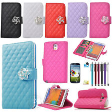 Fashion Luxury Desige Soft handle Wallet Card Leather Case Cover For Samsung SCH