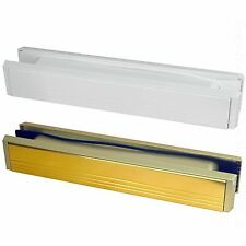 "12"" inch Slimline Letter Box Letter Plate Set Upvc PVCu Wood Doors Letterboxes"