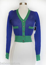 Juicy Couture Fashion Colorblock Wool Cardigan XL,  $138