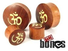 "Bare Bones Pair of Organic Blood Wood Plugs 4G to 2"" [Select Your Size]"