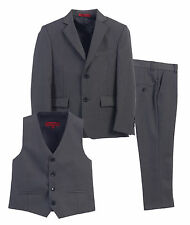 Magen Kids 3 Piece Toddler Boys Formal Suit, Blazer, Vest, Pants Set