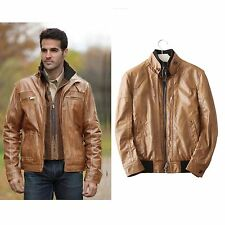 New brown faux leather bomber jacket size 42-44/L