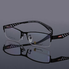 Men Women Metal Half Rimless Flexible Eyeglasses Frame Optical Hinged Myopia Rx
