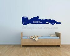 Red Bull F1 Racing Car Wall Art Sticker, Formula 1 Vinyl Graphic Decal