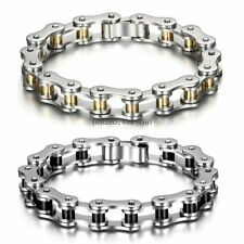 New Heavy Mens Motor Biker Chain Stainless Steel Bracelet 8.26 Inch