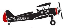 Personalized Name Vintage Airplane Boy Room Vinyl Decal Sticker Wall Decoration