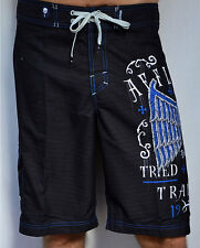 Affliction - TRIED FATE - Men's Boardshorts Swim Trunks - Shorts - NEW - Black