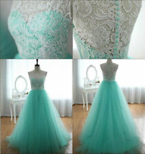Stock Sexy Evening Wedding Dresses Formal Party Ball Gown Prom Bridesmaid Dress