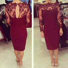 New Elegant Sexy Summer Bodycon Lace gauze Evening Party Cocktail Pencil Dress