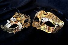 Couple Masquerade Ball Mask Set Costume School Prom Birthday Wedding Party