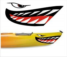 SHARK TEETH MOUTH DECAL STICKERS KAYAK CANOE JET SKI HOBIE DAGGER OCEAN boat 3