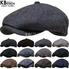 Cabbie Newsboy Gatsby Cap Mens Ivy Hat Golf Driving Winter Cold Flat Applejack