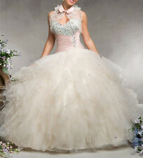 New Beaded Ball Gown Prom Party Quinceanera dress Formal Pageant Dress wedding