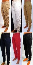Men's JORDAN CRAIG navy white black chino relaxed joggers pants style 5247M