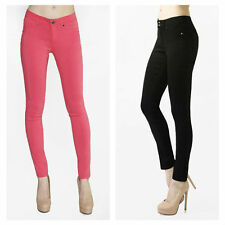 Womens Basic 5 Pocket Fitted Skinny Pants Stretch Legging Jean Spandex/Rayon