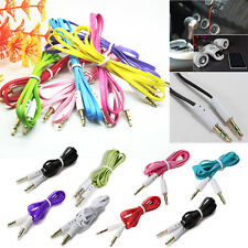 3.5mm AUX Male to Male Stereo Audio Flat Car Cable Mobile Phones PC iPod MP4 Hot