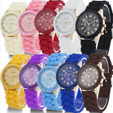 Beauty Geneva Watch Silicone Quartz Students Unisex Fruit Jelly Wrist Watch Gift
