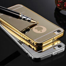 NEW Luxury Aluminum Ultra-thin Mirror Metal Back Case Cover Skin for iPhone 5/5S